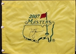 Zach Johnson Signed Masters Flag PSA