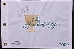 Fred Couples Signed 2009 Presidents Cup Flag JSA
