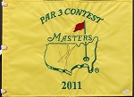Luke Donald Signed Masters Par 3 Flag JSA