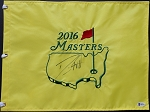 Danny Willett  Signed 2016 Masters Flag Beckett Cert