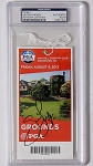Jason Dufner  Signed  2013 PGA Championship Oak Hill Ticket PSA